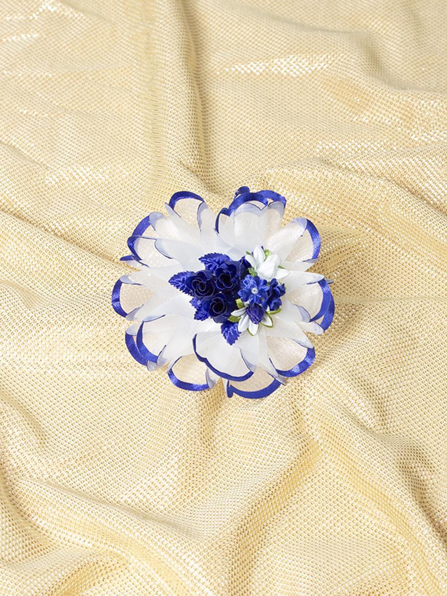 Бант-резинка 7см, цвет: синий