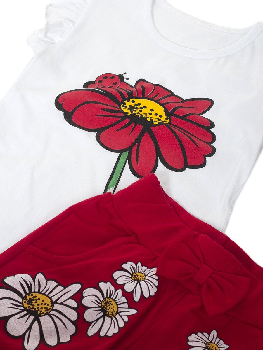 Комплект для девочки, цвет: красный