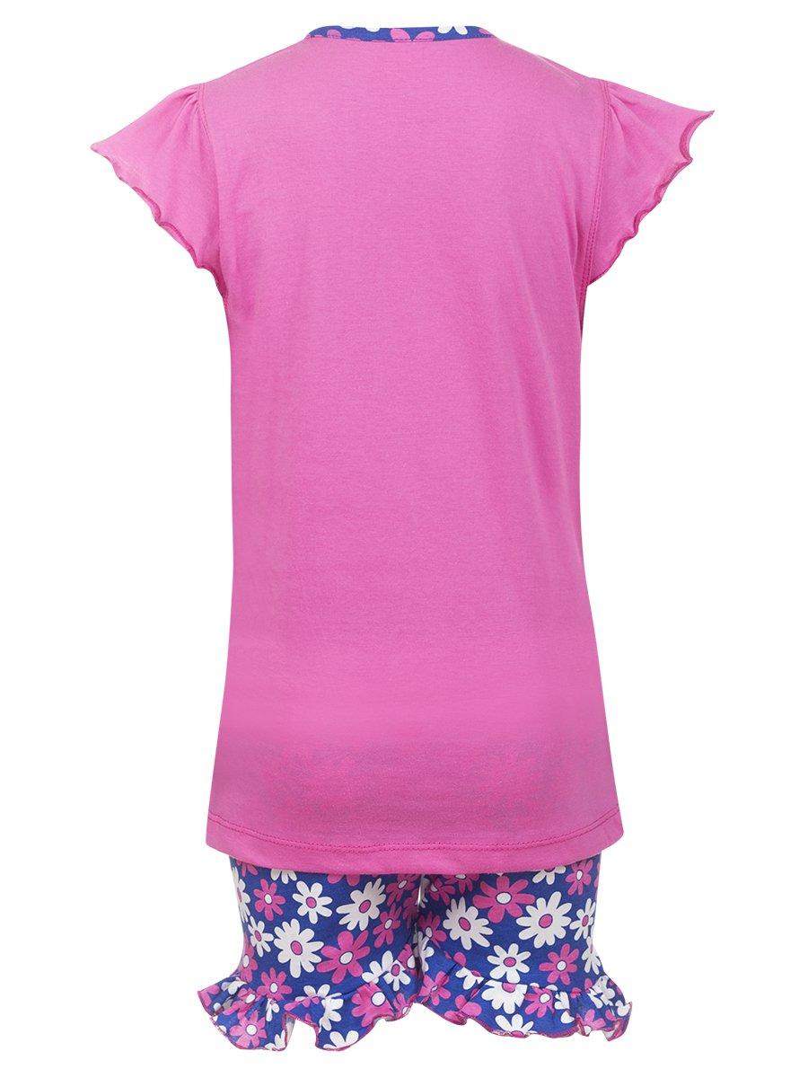 Комплект для девочки: футболка и шорты, цвет: розовый