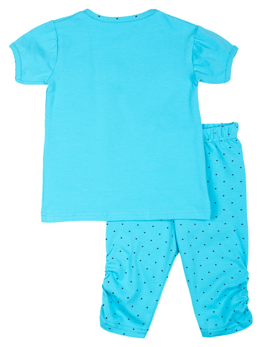 Комплект:футболка и капри, цвет: голубой