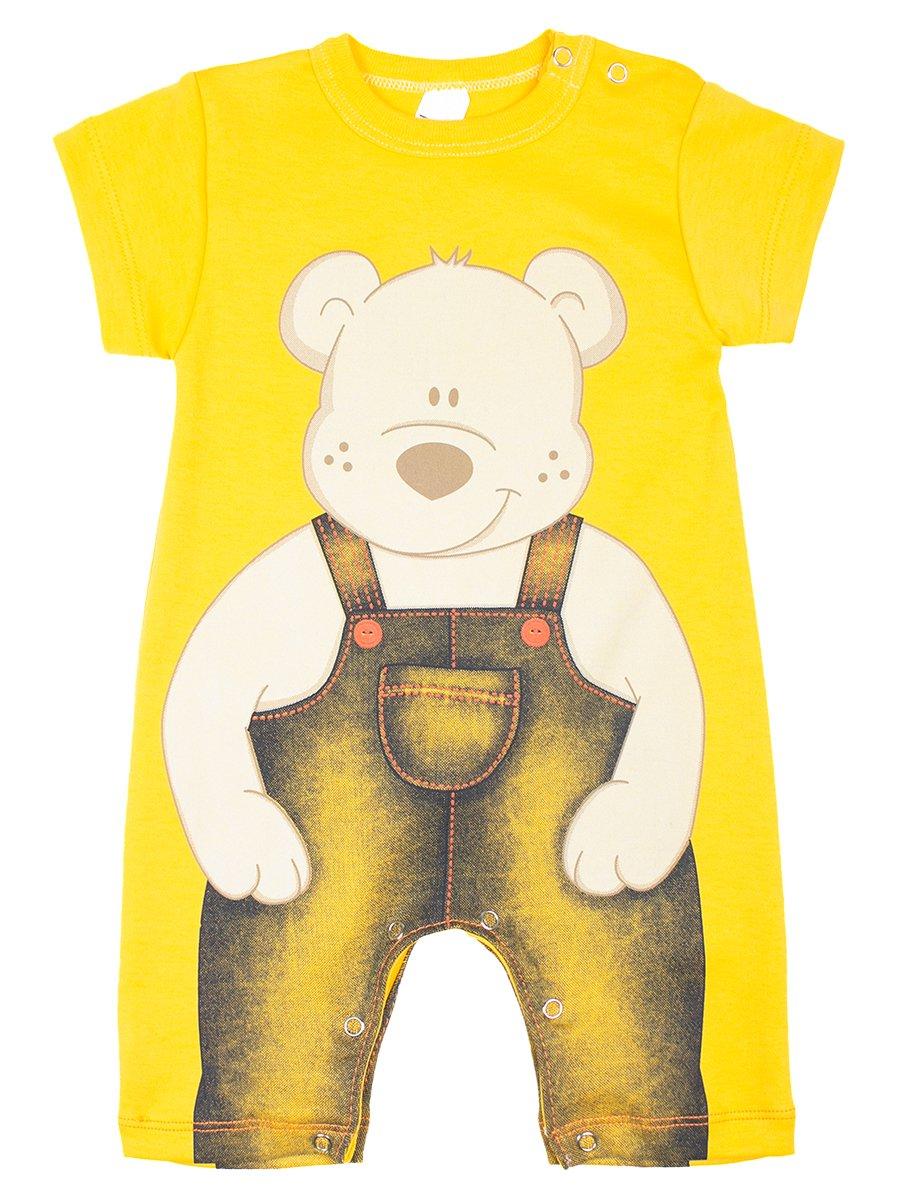 Боди(песочник) детский, цвет: желтый