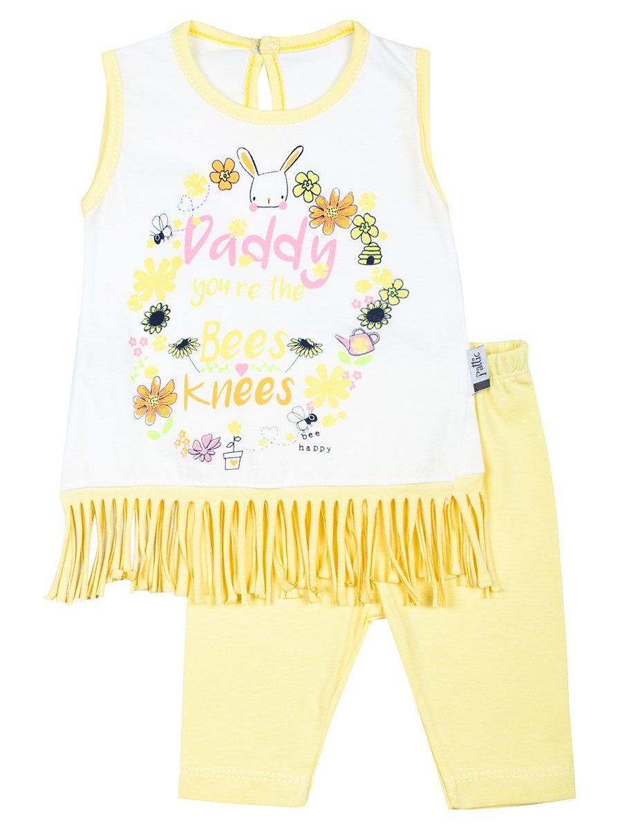 Комплект для девочки: топ и капри, цвет: желтый