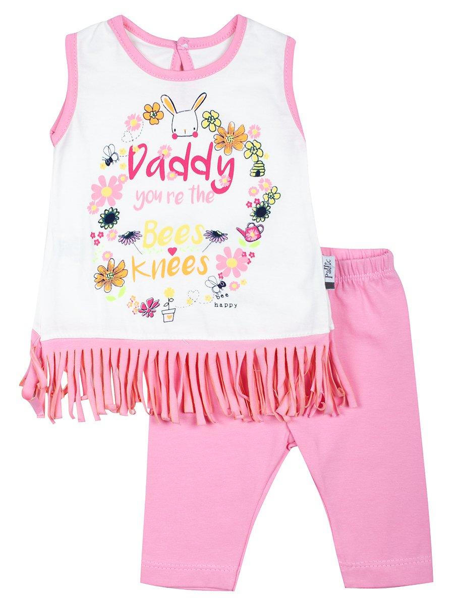 Комплект для девочки: топ и капри, цвет: светло-розовый