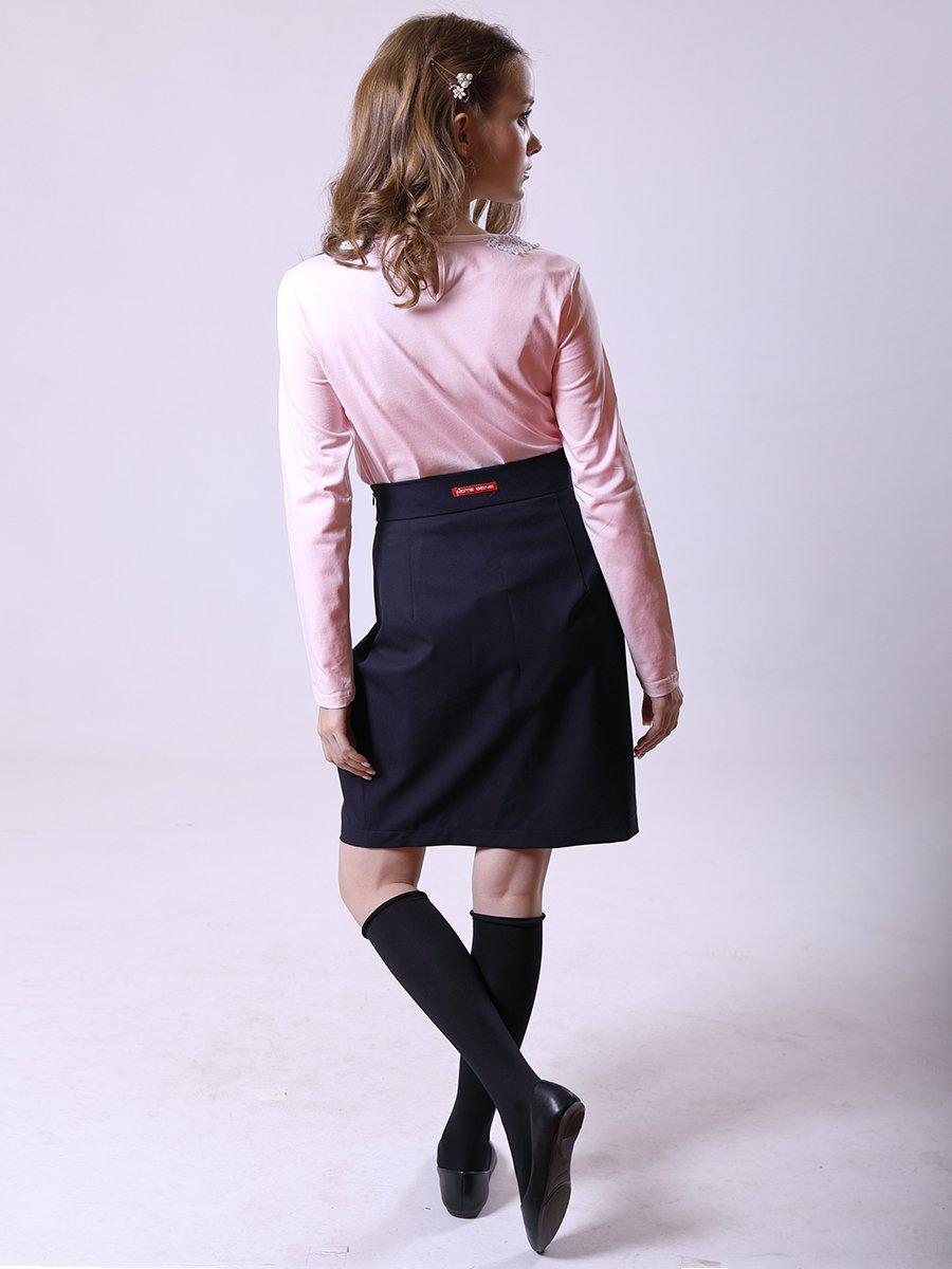 Блузка трикотажная из кулирки с лайкрой, цвет: розовый