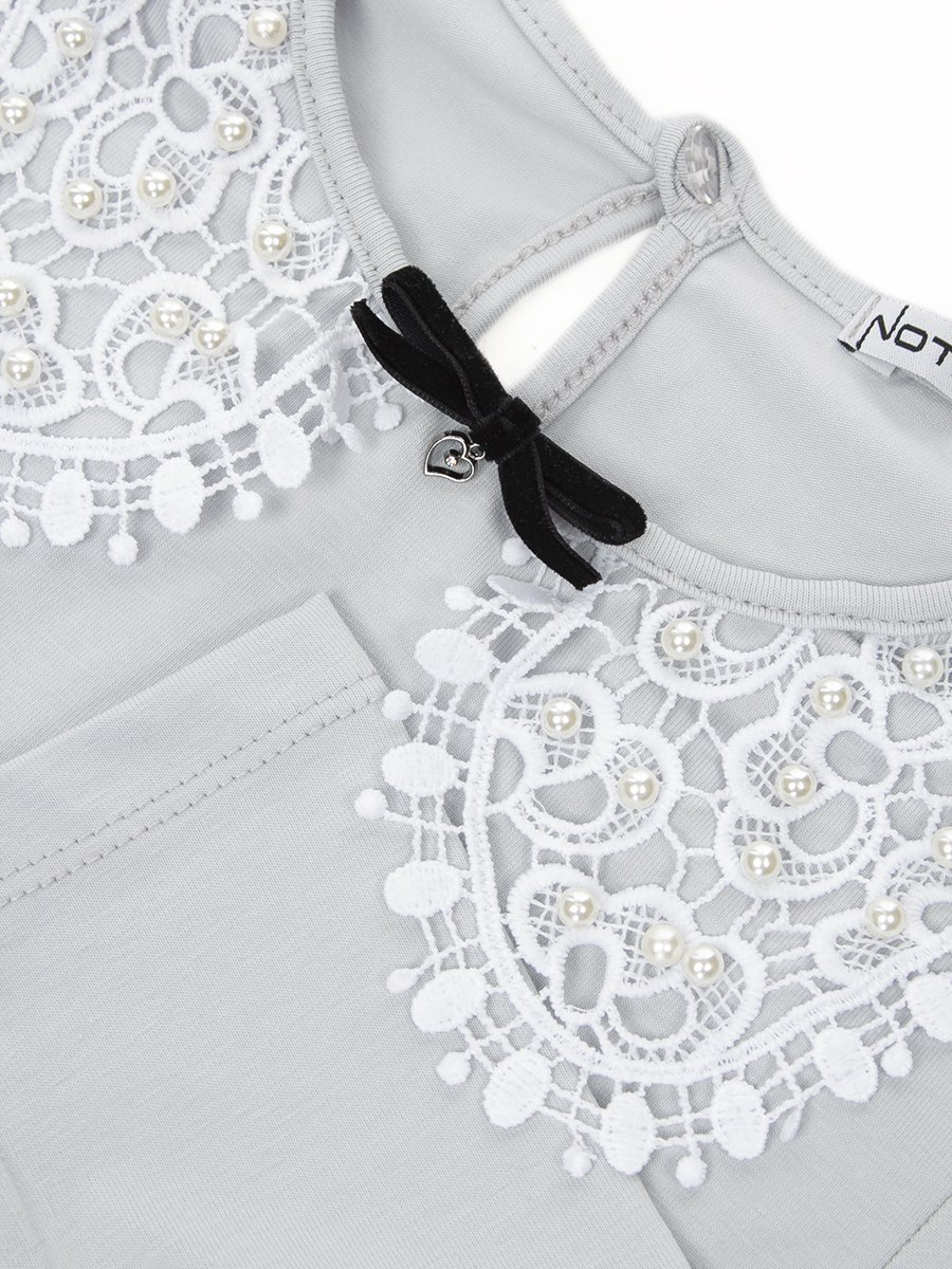 Блузка трикотажная из кулирки с лайкрой, цвет: серый