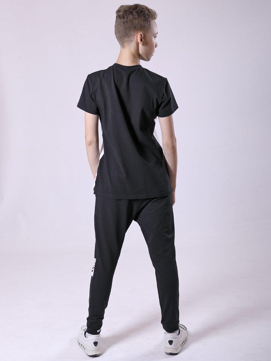 Брюки (джогеры) из футера для занятий хип-хоп, цвет: черный