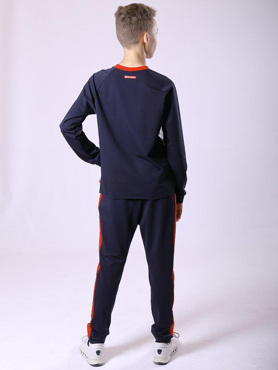 Костюм спортивный: свитшот и брюки-джоггеры, цвет: серый