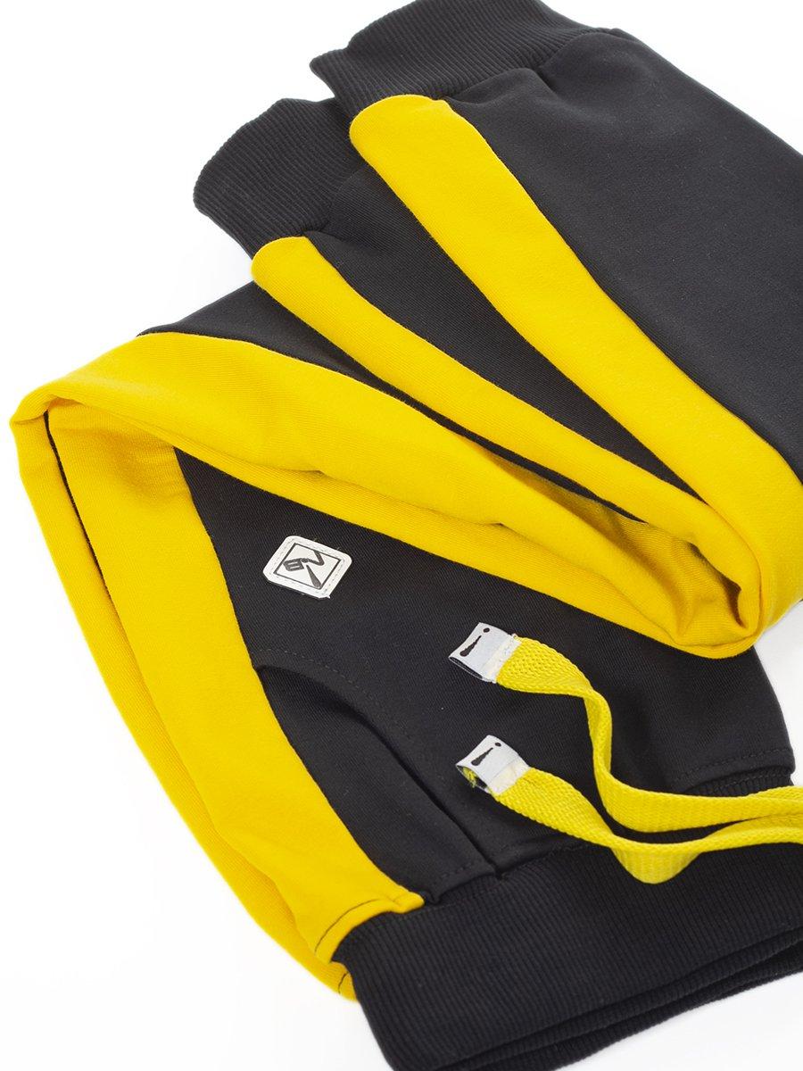 Брюки спортивные для девочки из футера 2-х нитки, цвет: черный