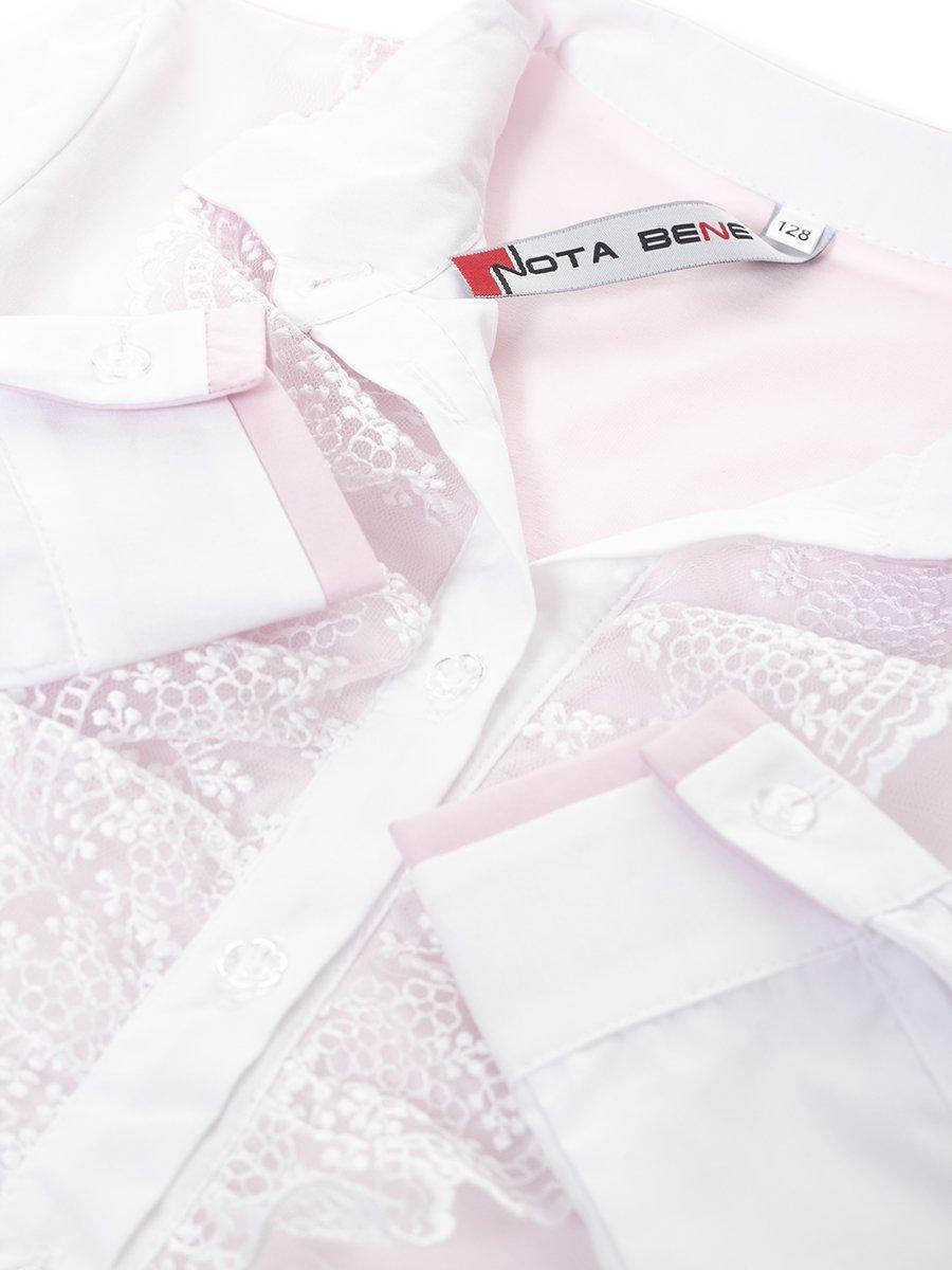 Блузка текстильная для девочки, цвет: светло-розовый