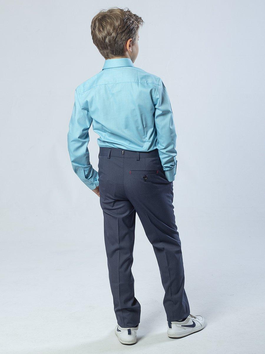 Брюки для мальчика из текстиля, цвет: джинсовый