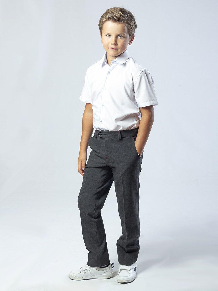 Брюки классические со средней посадкой для мальчика, цвет: серый