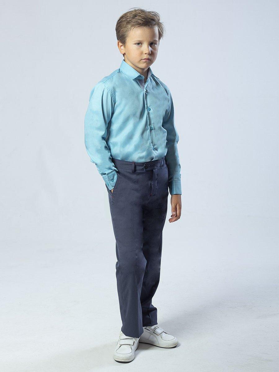 Брюки классические со средней посадкой для мальчика, цвет: джинсовый