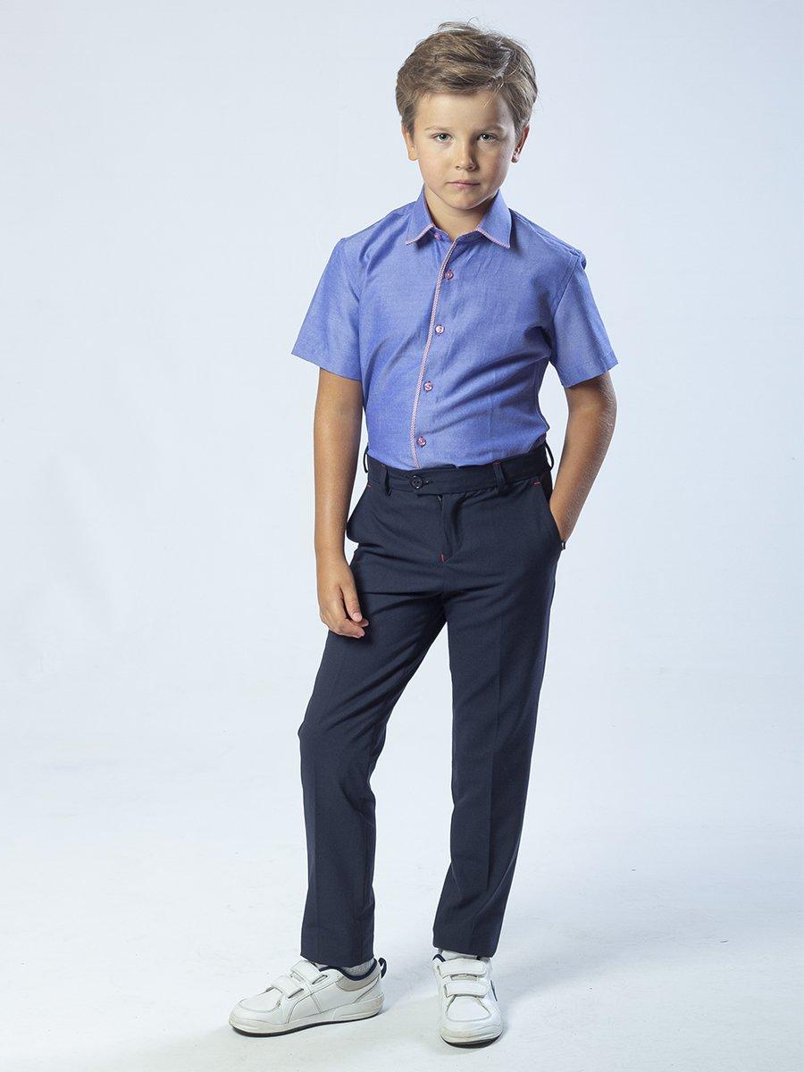 Брюки зауженные со средней посадкой для мальчика, цвет: темно-синий