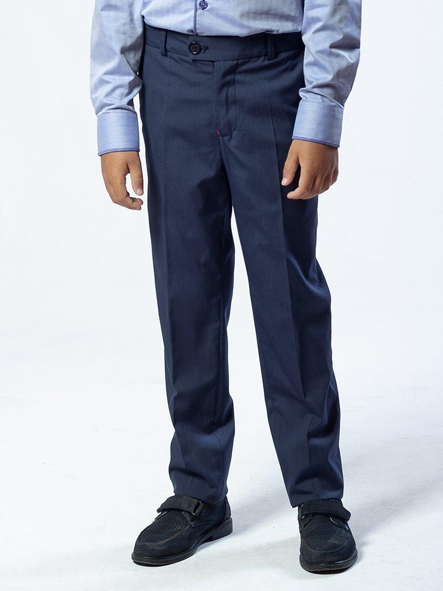 Брюки текстильные для мальчика зауженные к низу, цвет: джинсовый