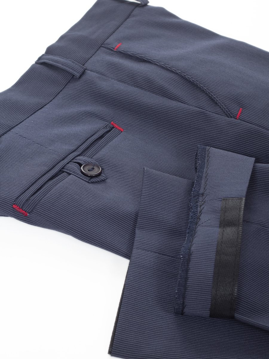 Брюки зауженные со средней посадкой для мальчика, цвет: джинсовый
