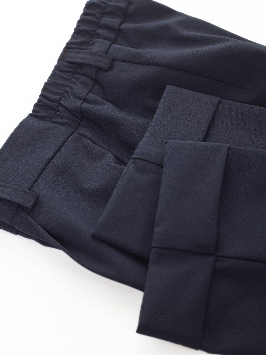 Брюки текстильные классические для девочки, цвет: темно-синий