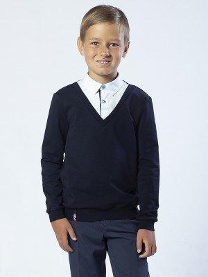 Джемпер-обманка для мальчика