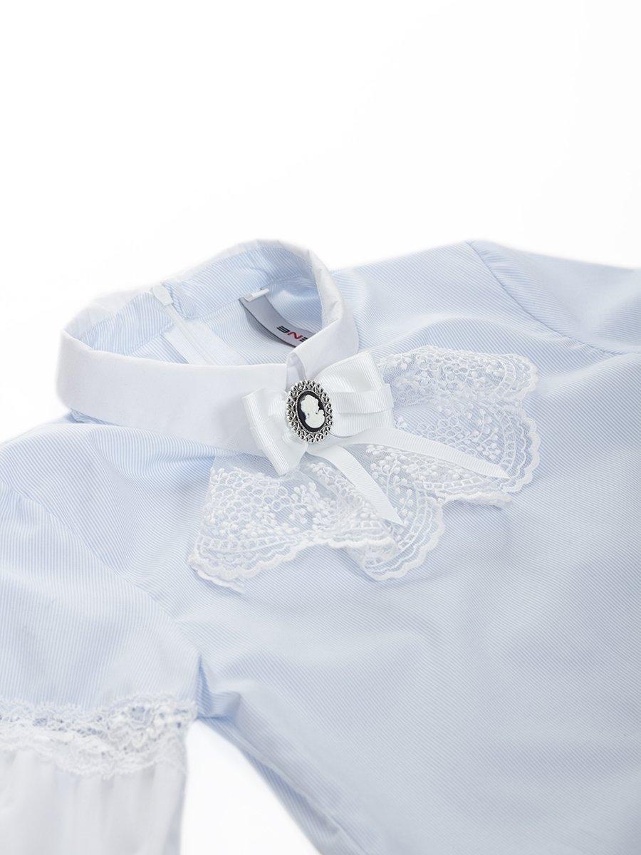 Блузка текстильная для девочки, цвет: голубой