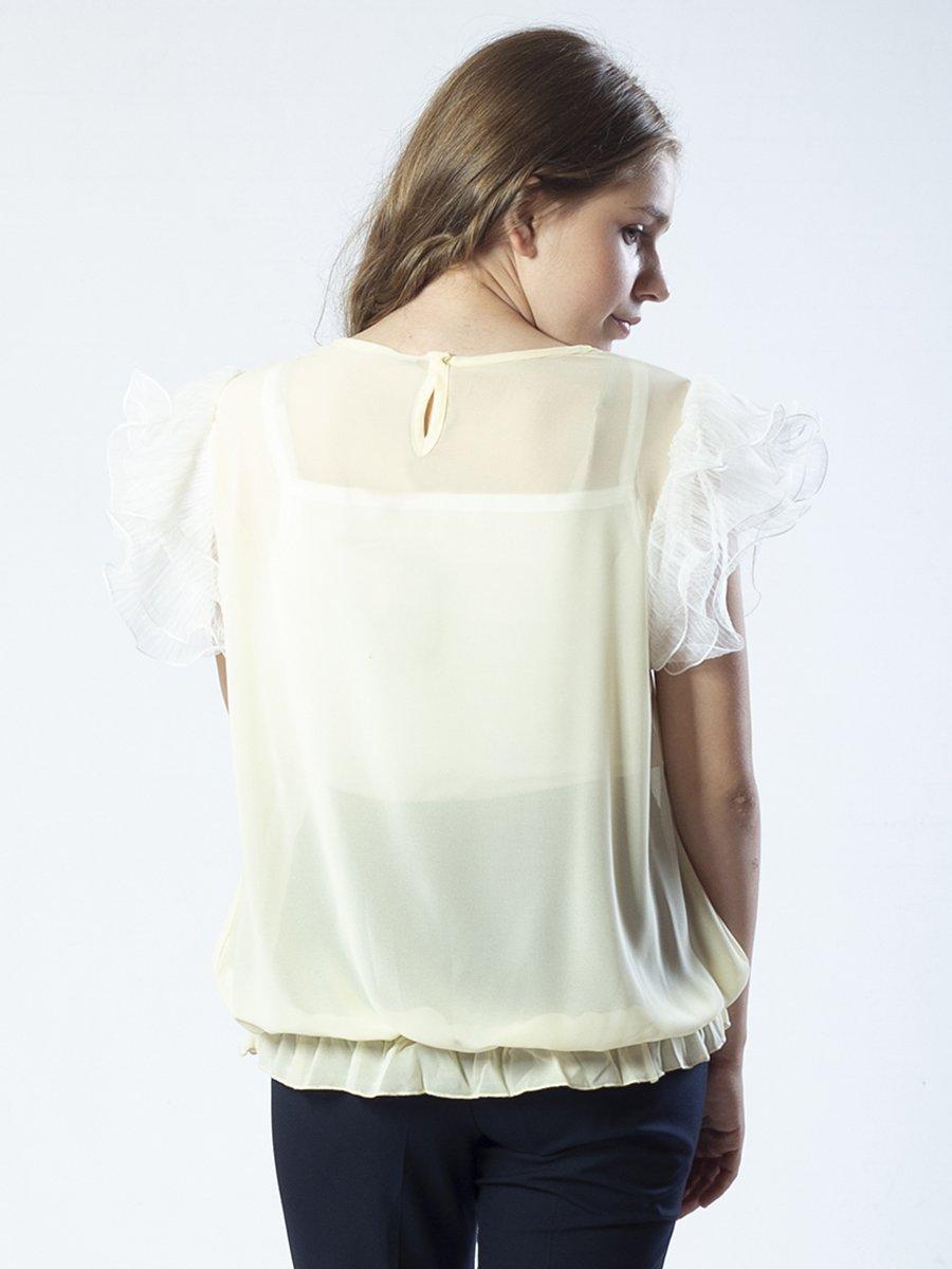 Блузка свободного силуэта, цвет: молочный