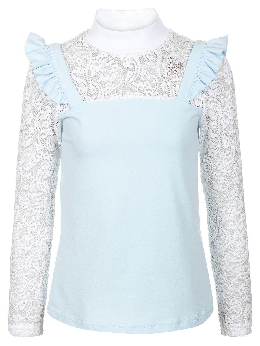 Блузка трикотажная для девочки, цвет: светло-голубой