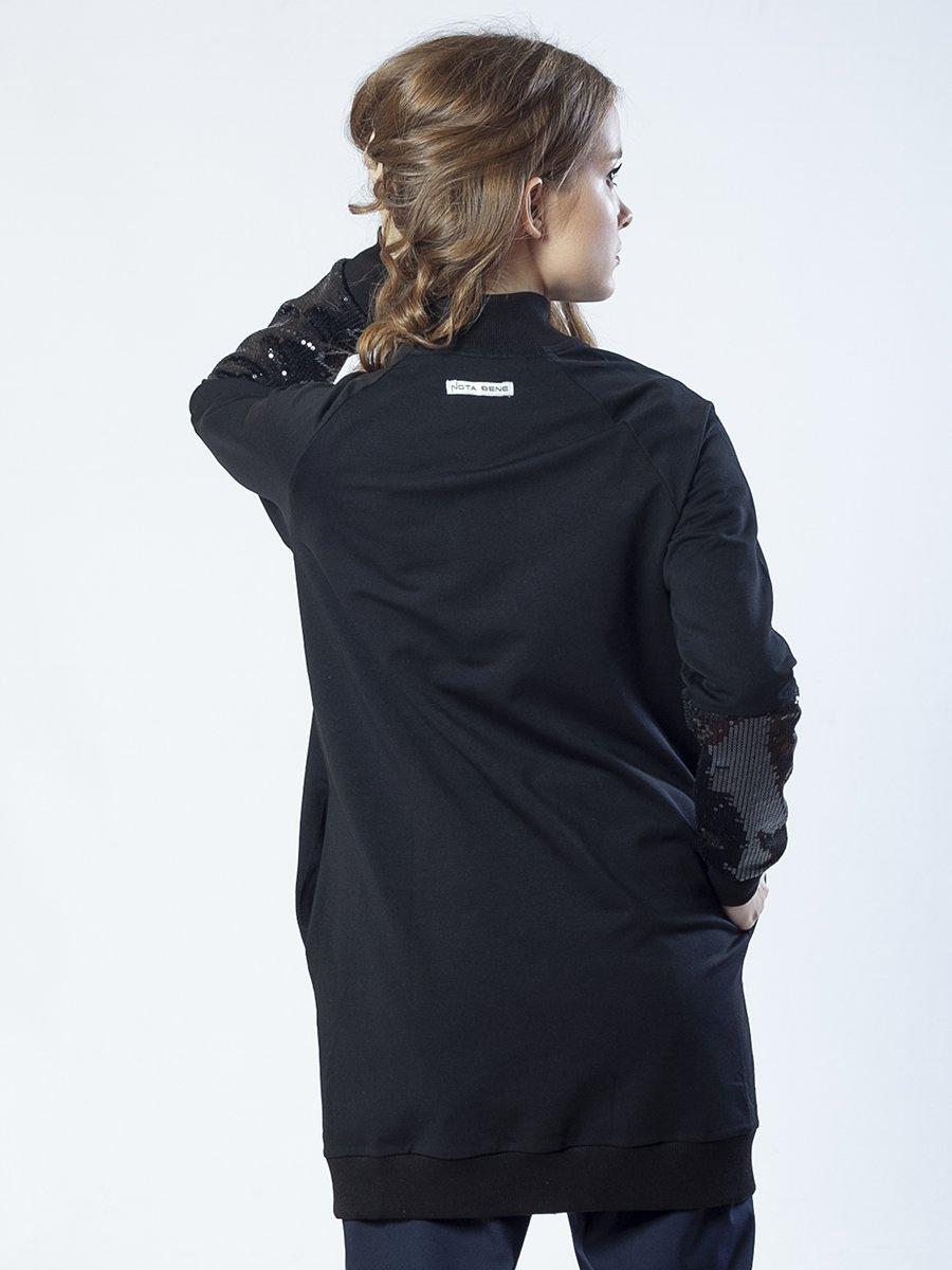 Кардиган удлиненный прямого силуэта для девочки, цвет: черный