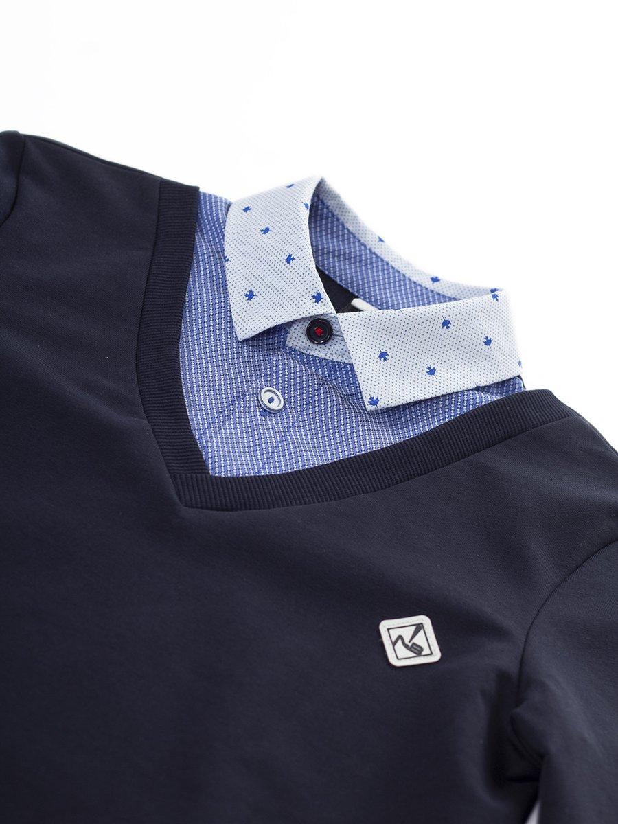 Джемпер-обманка для мальчика, цвет: темно-синий