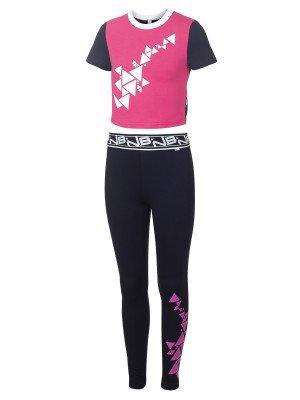 Спортивный костюм для девочки из кулирки с лайкрой