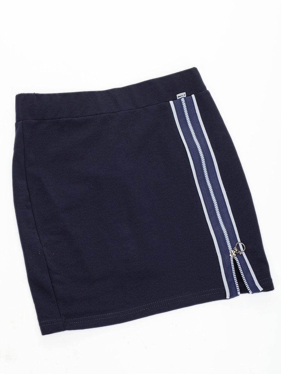 Юбка прямого силуэта, цвет: темно-синий