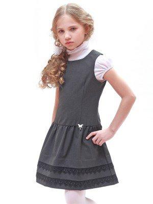 Сарафан полуприлегающий с заниженной талией,юбка отрезная на сборке