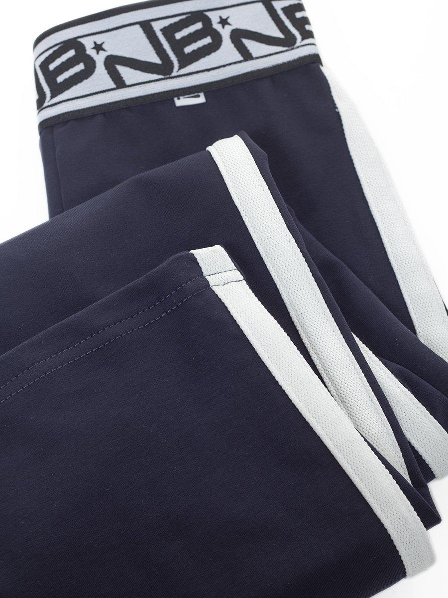 Брюки спортивные прямые для девочки, цвет: темно-синий