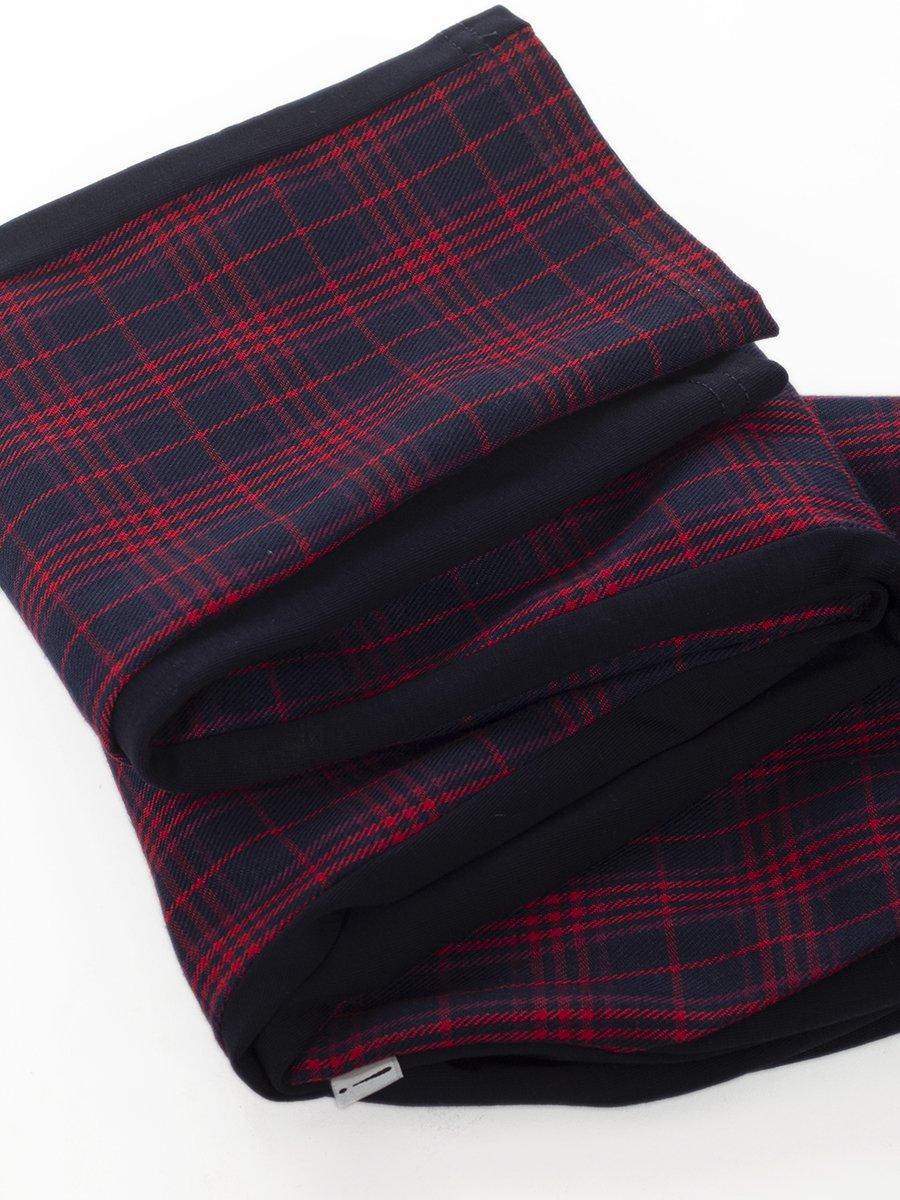 Брюки для девочки из футера и костюмной ткани
