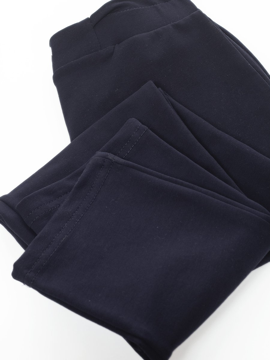 Брюки зауженнные со средней посадкой для девочки, цвет: синий