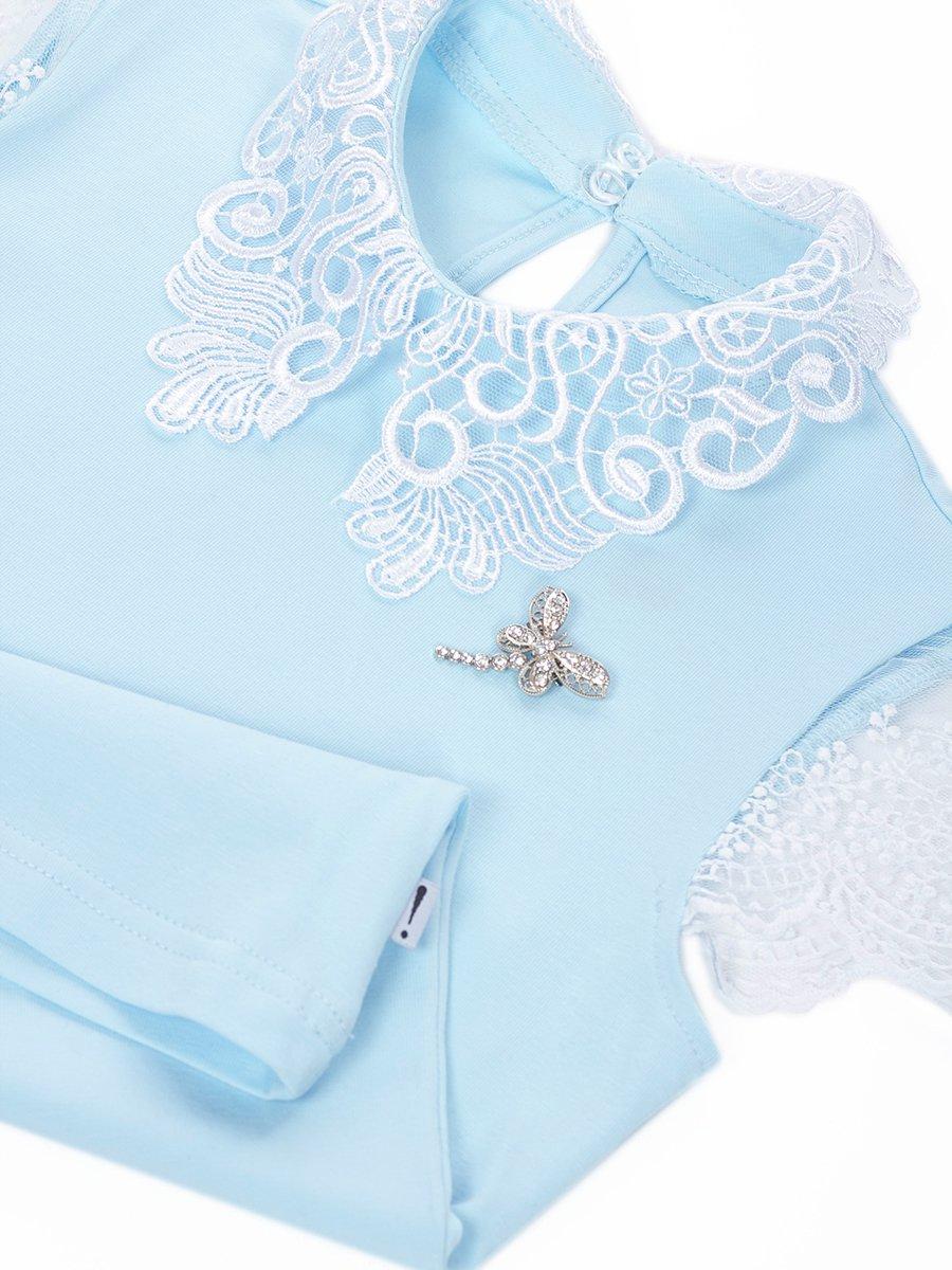 Блузка трикотажная для девочки, цвет: голубой