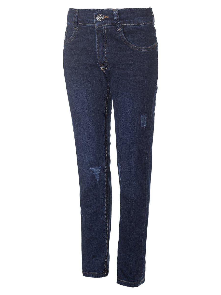 Брюки джинсовые для мальчика, цвет: темно-синий
