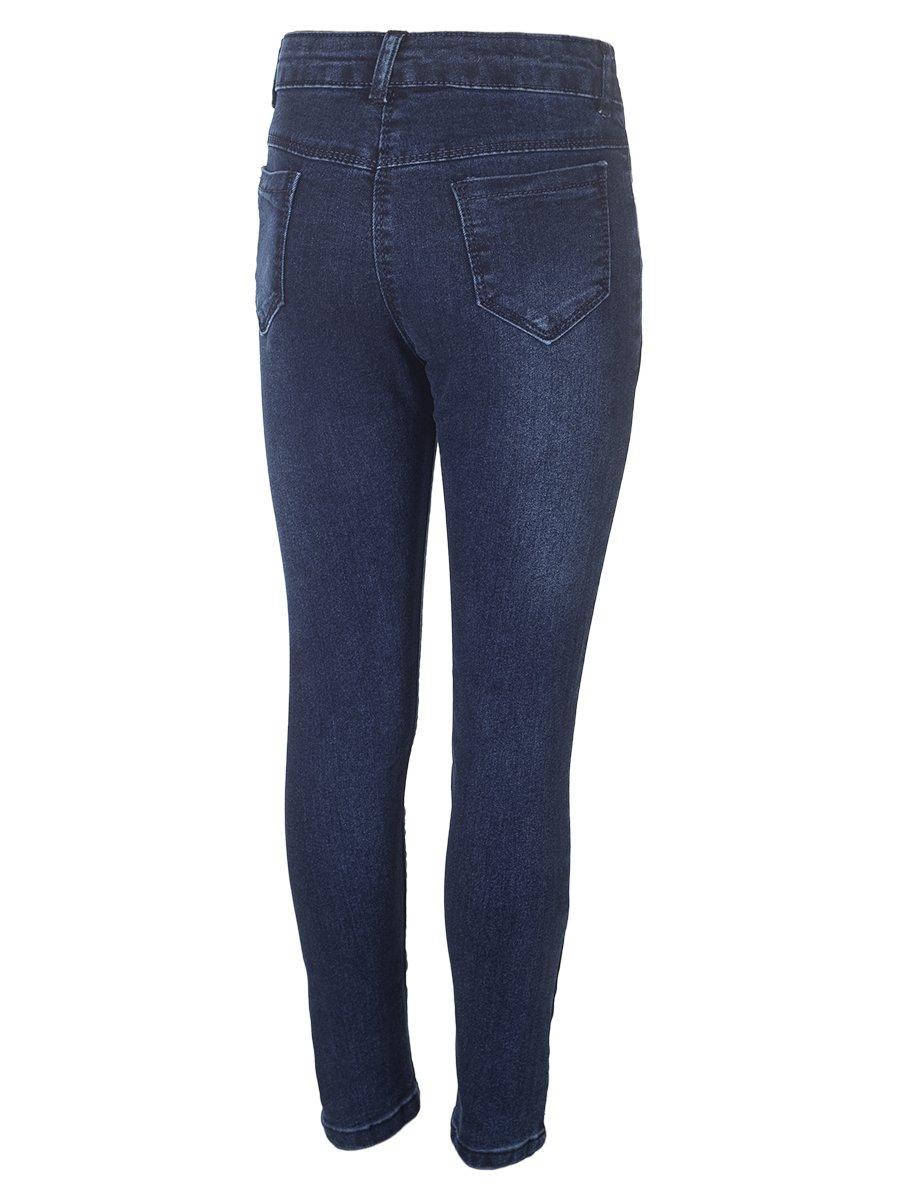 Брюки джинсовые для девочки, цвет: темно-синий