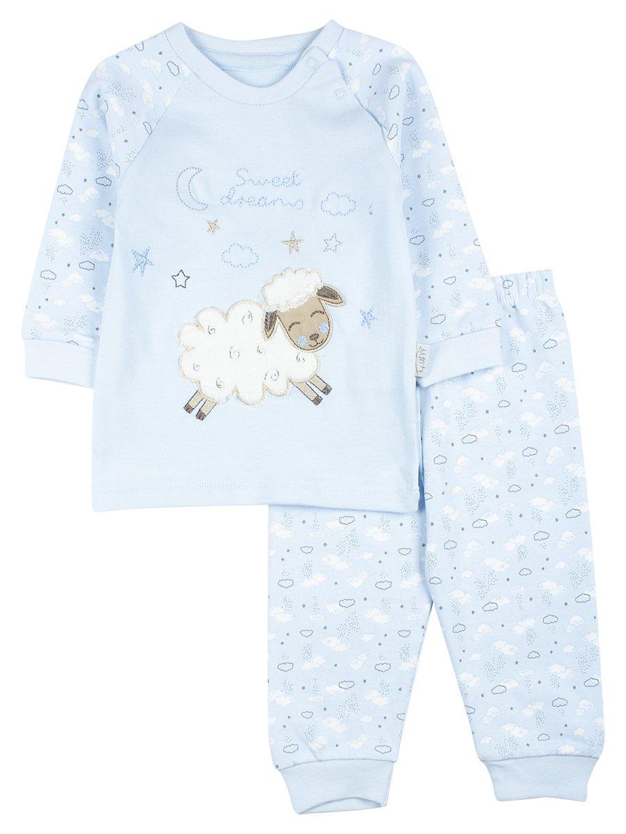 Комплект детский: штанишки и кофточка, цвет: голубой