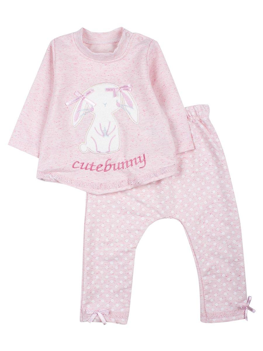 Комплект для девочки: кофточка и штанишки, цвет: светло-розовый