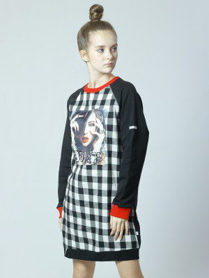 Платье из футера 2-х нитки и текстиля