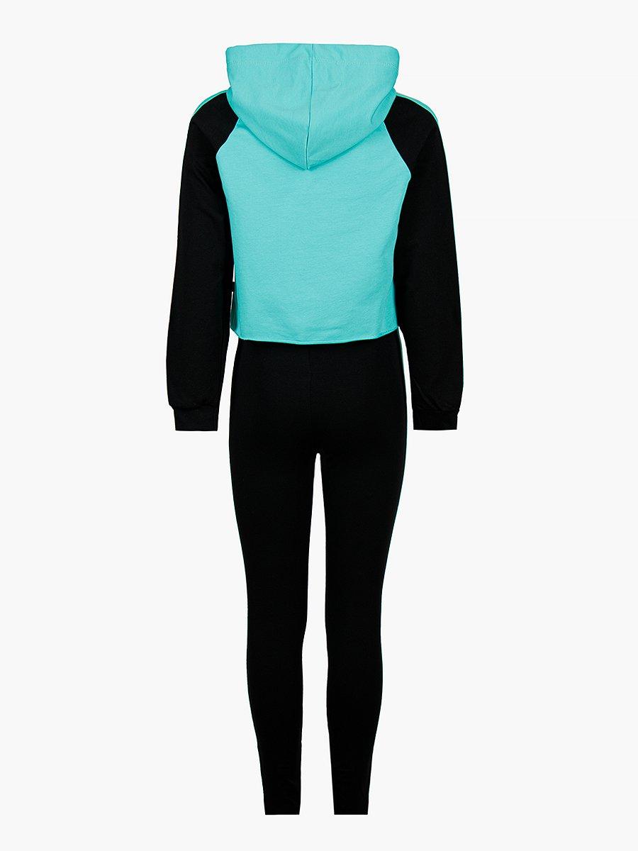 Костюм спортивный: свитшот укороченный и леггинсы, цвет: мятный