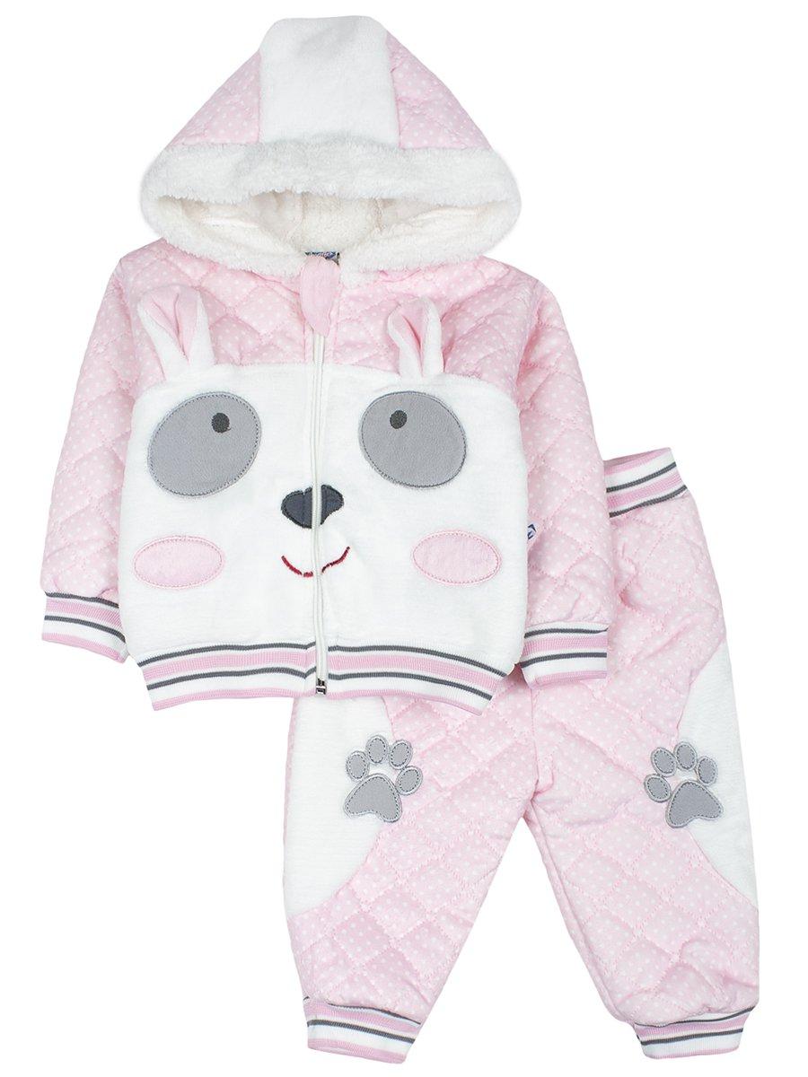 Комплект велюровый на махровой подкладке детский, цвет: светло-розовый