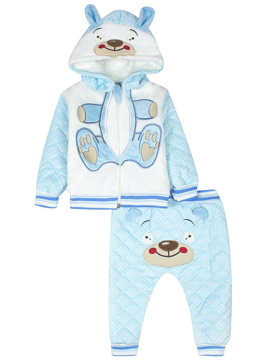 Комплект велюровый на махровой подкладке детский, цвет: голубой