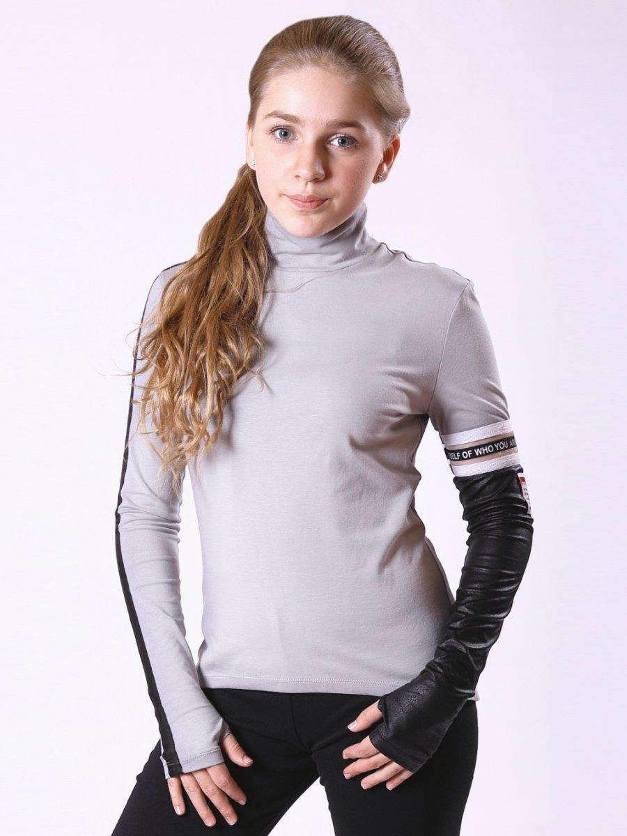 Водолазка для девочки, цвет: серый