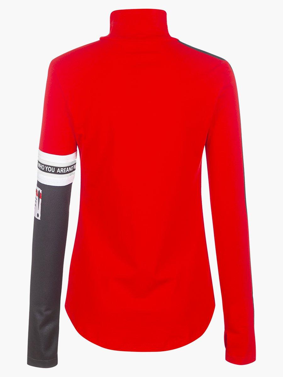 Водолазка для девочки, цвет: красный