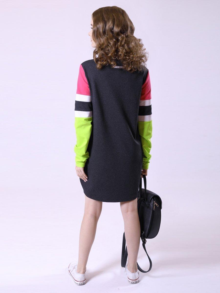 Платье из футера, цвет: темно-серый