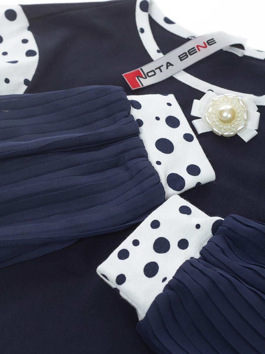 Блузка трикотажная из кулирки с лайкрой и шифона, цвет: белый