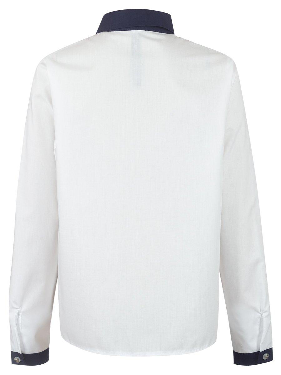 Блузка текстильная для девочки, цвет: молочный
