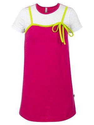 Платье из кулирки с лайкрой, с принтом