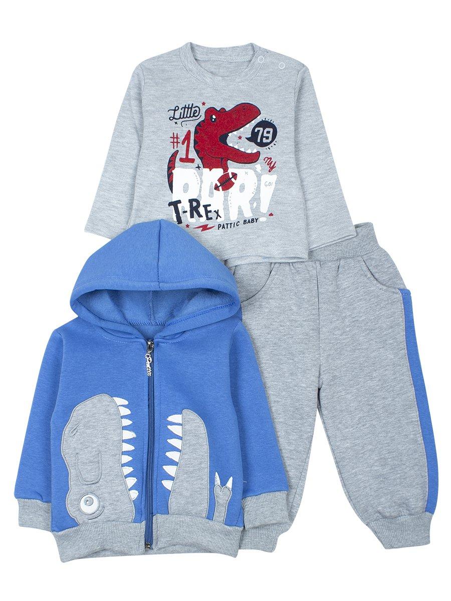 Комплект с начесом для мальчика, цвет: синий