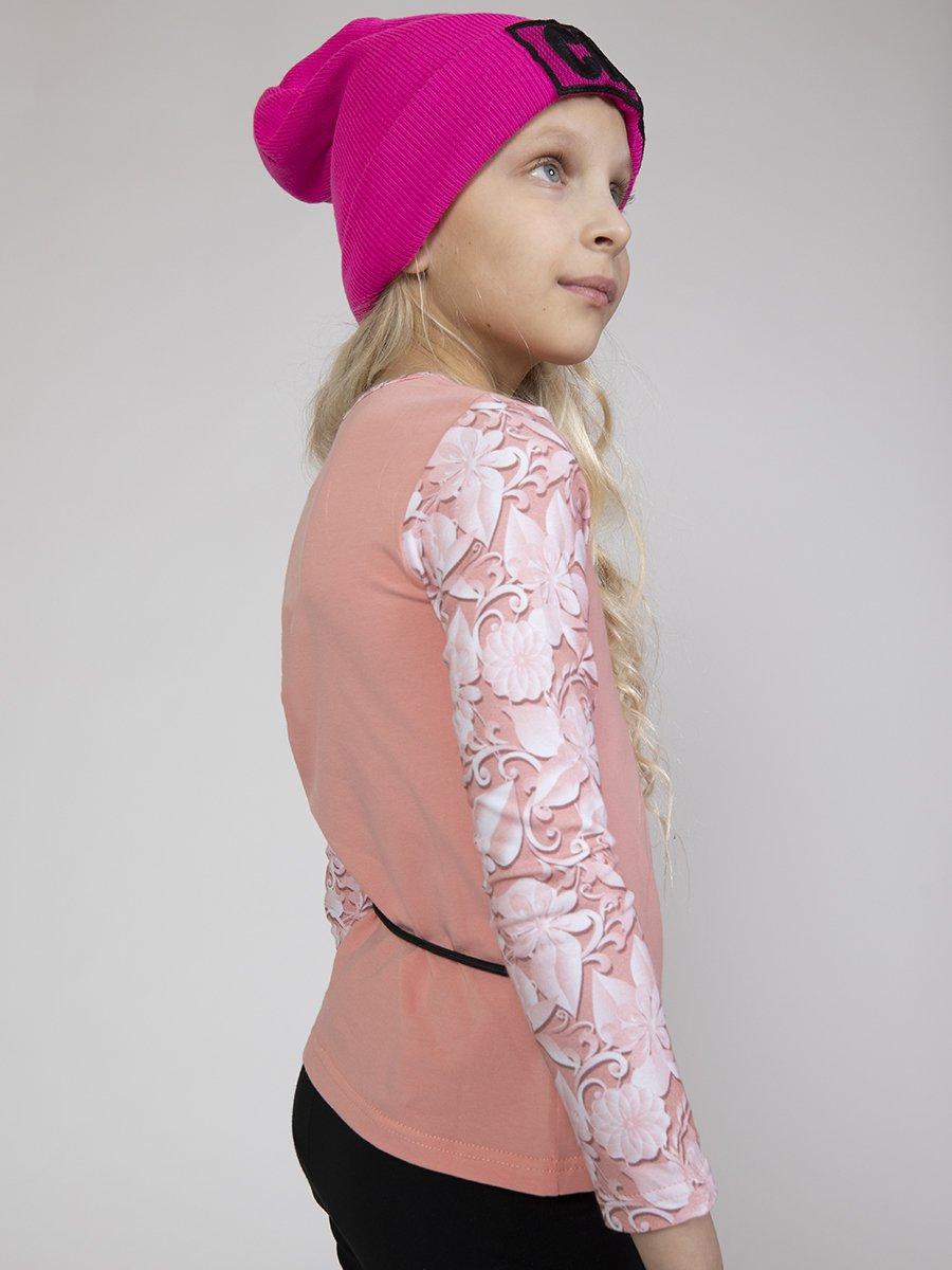 Блузка прилегающего силуэта, цвет: пудра