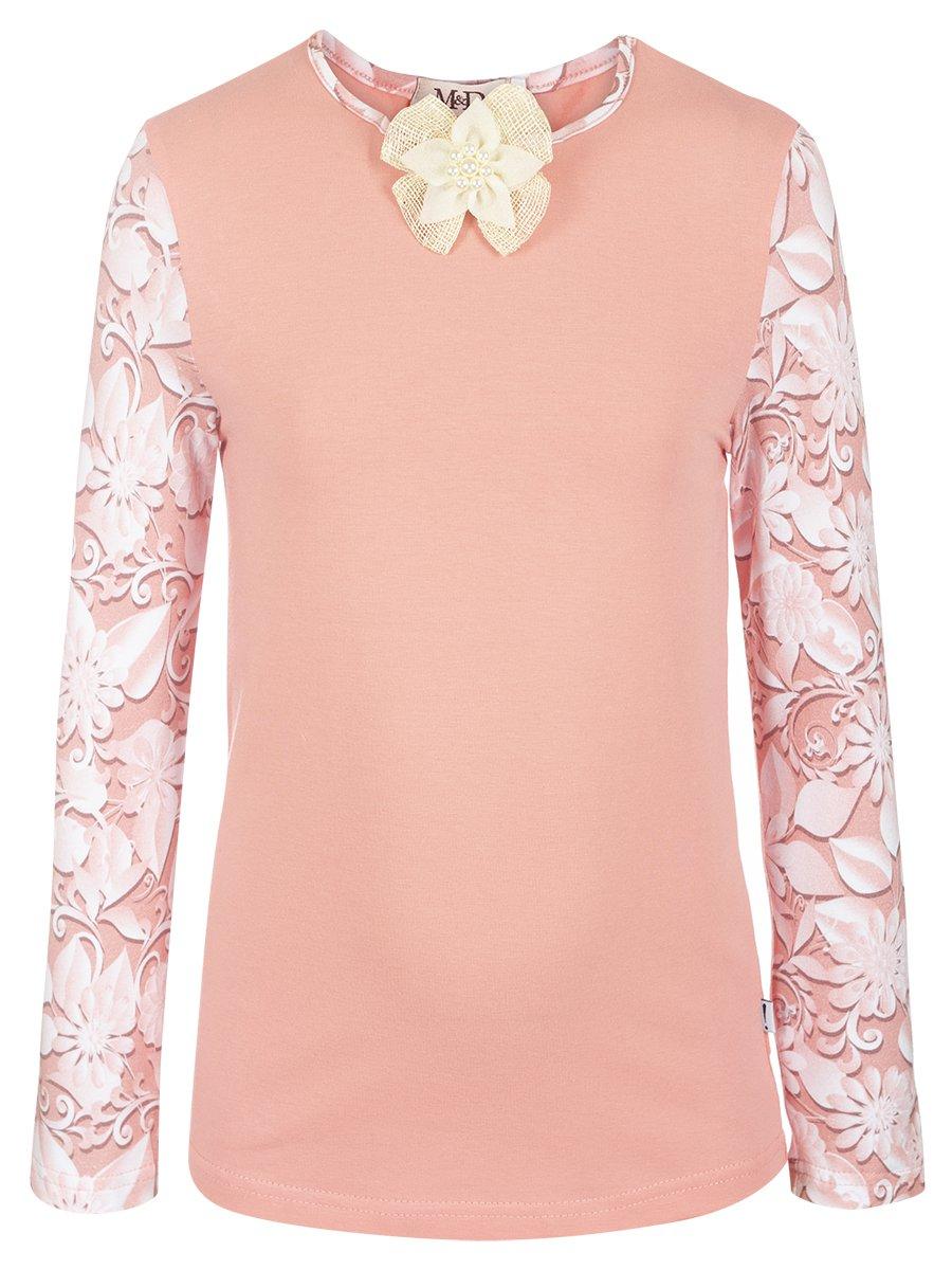 Блузка трикотажная из кулирки с лайкрой, цвет: пудра